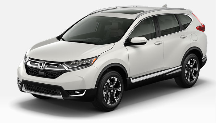 A photo of the 2019 Honda CR-V in Platinum White Pearl.