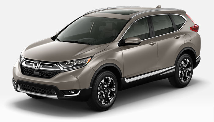A photo of the 2019 CR-V in Sandstorm Metallic.