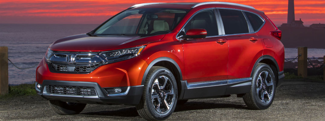 A front left quarter photo of the 2019 Honda CR-V.