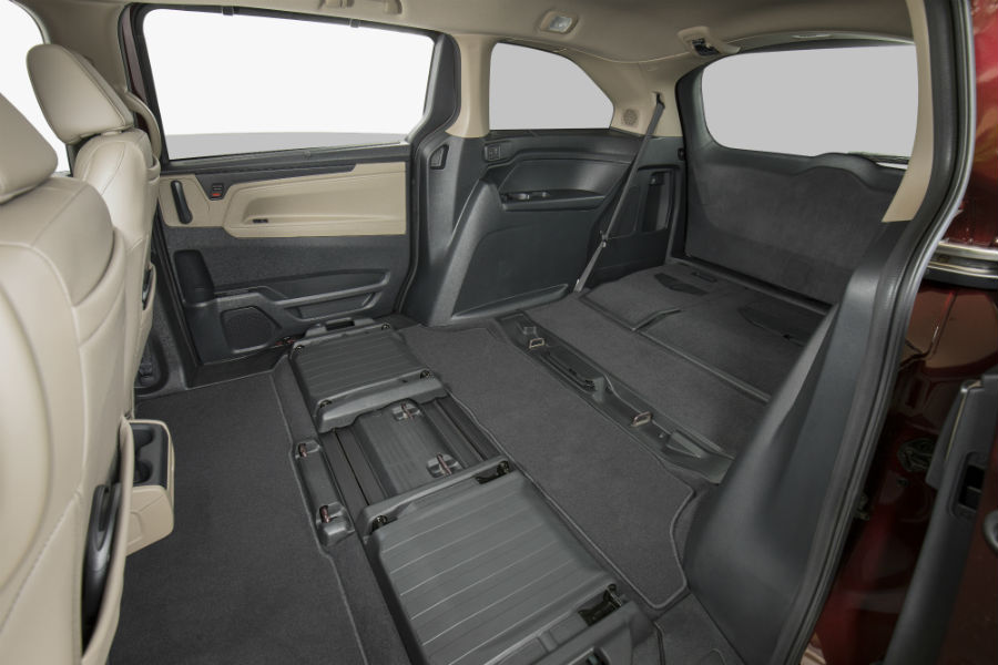 A photo of the maximum cargo area inside of the 2020 Honda Odyssey.