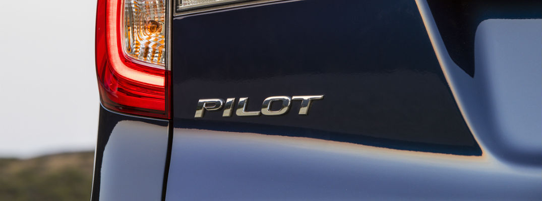A photo of the Pilot badge used on the 2020 Honda PIlot.