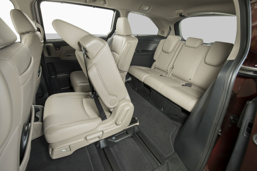 A photo of the rear rows of seats in the 2020 Honda Odyssey.