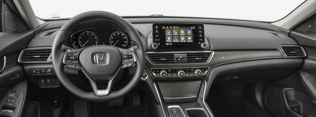 A photo of the dashboard in the 2020 Honda Accord.