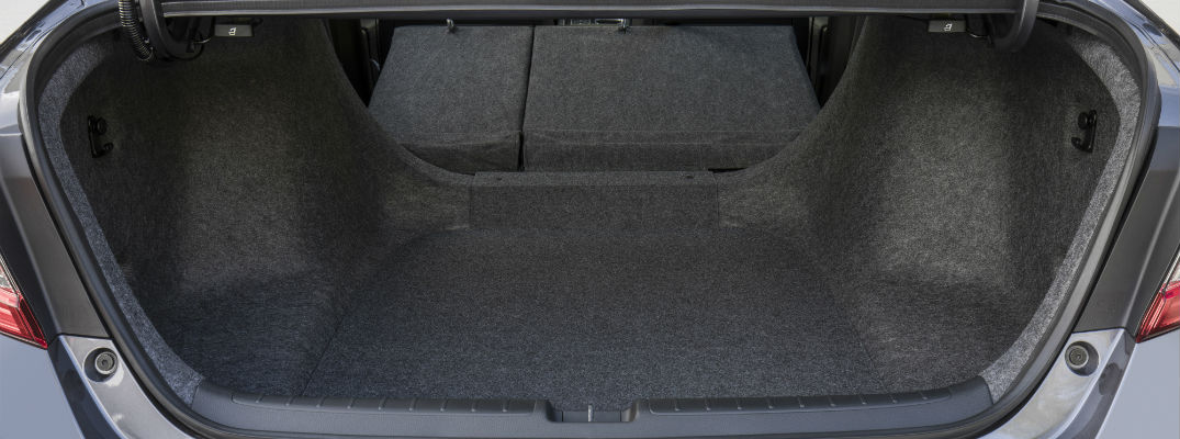 A photo of the trunk space in the 2020 Honda Accord.