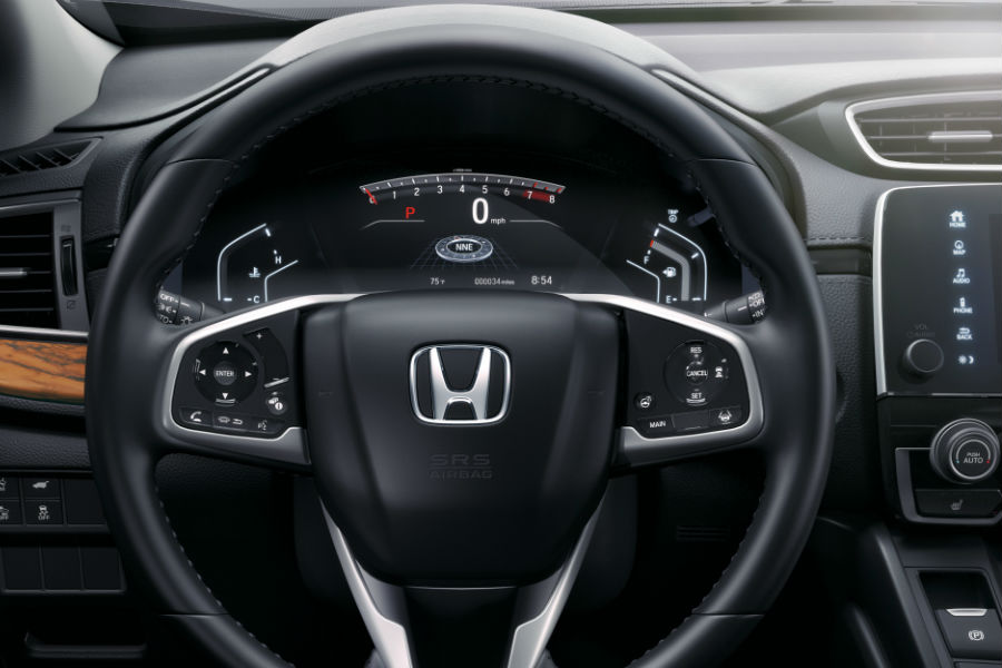 A photo of the center gauge cluster in the 2020 Honda CR-V.