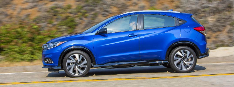 A left profile photo of the 2020 Honda HR-V.