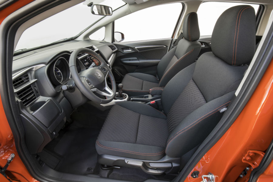 A photo of the front seats in the 2020 Fit.