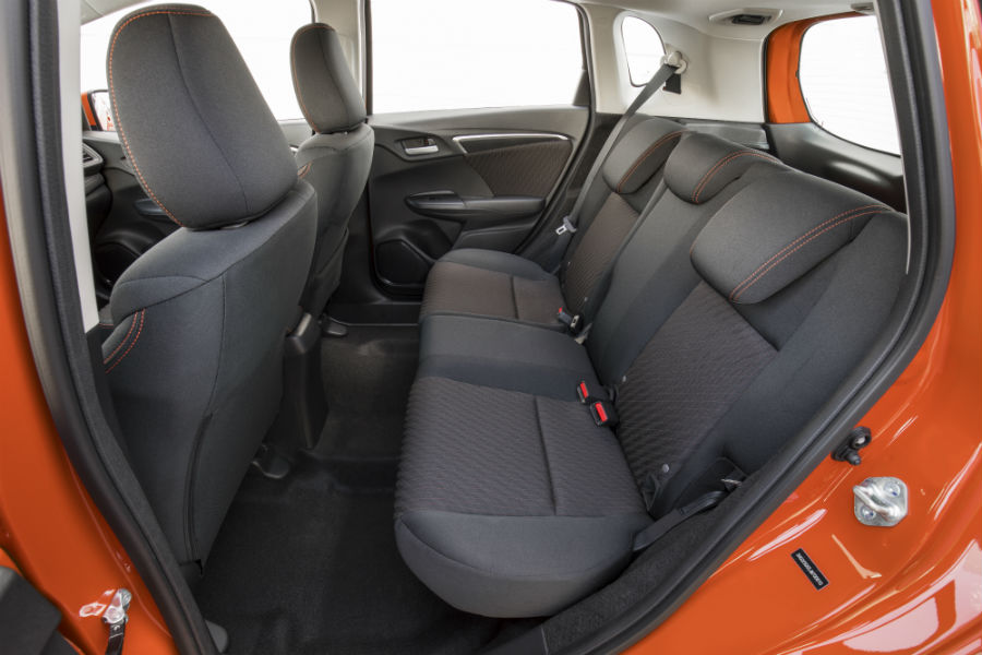 A photo of the rear seats in the 2020 Honda Fit.