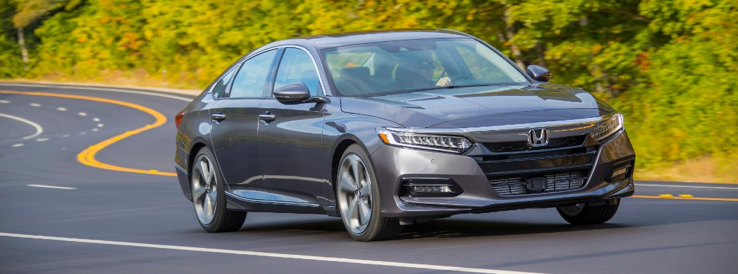 A photo of the 2020 Honda Accord on the road.