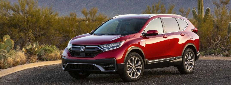 A left profile photo of the 2020 Honda CR-V Hybrid.