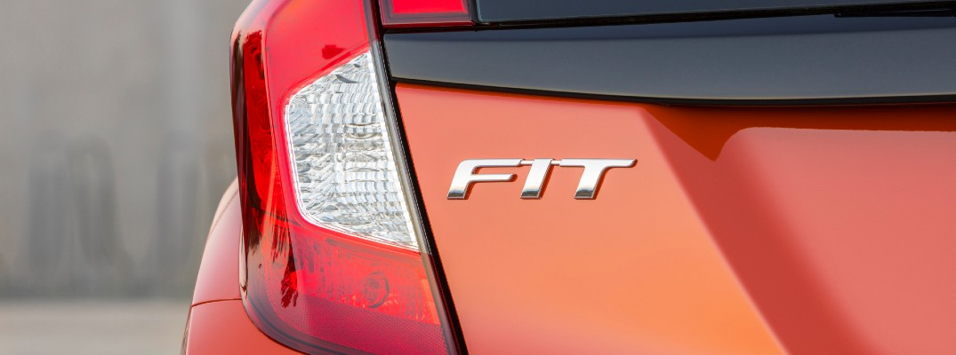 A photo of the Fit badge worn on the back of the 2020 Honda Fit.