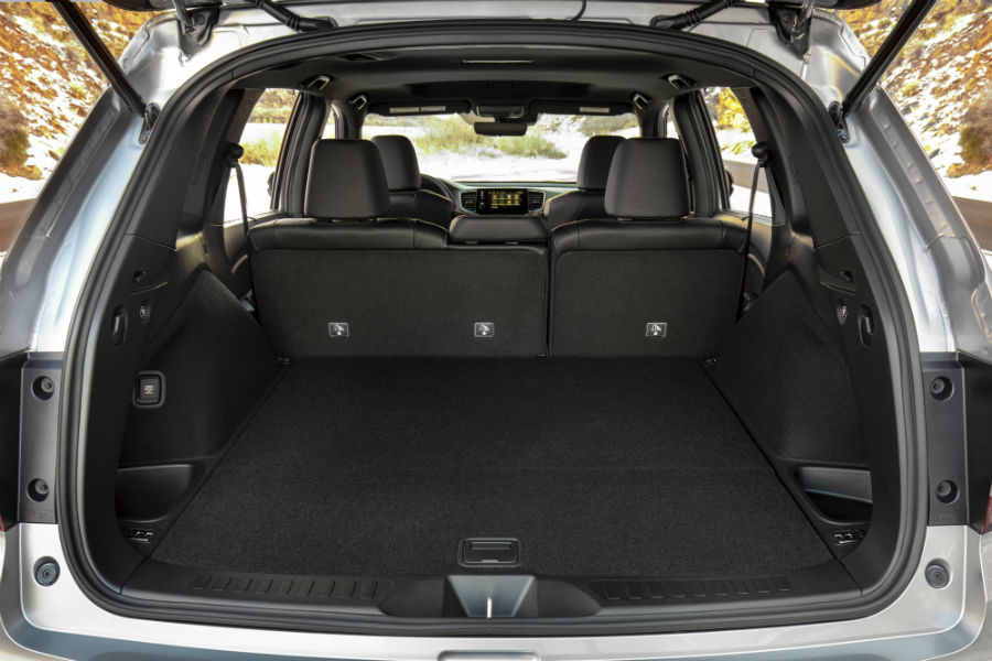 A photo of the cargo area in the 2021 Honda Passport.