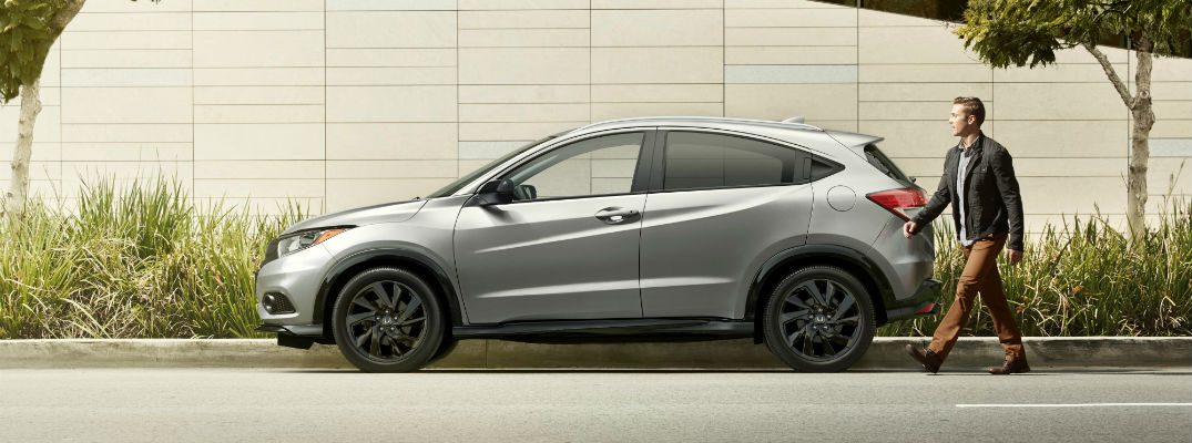 A left profile photo of the 2021 Honda HR-V.