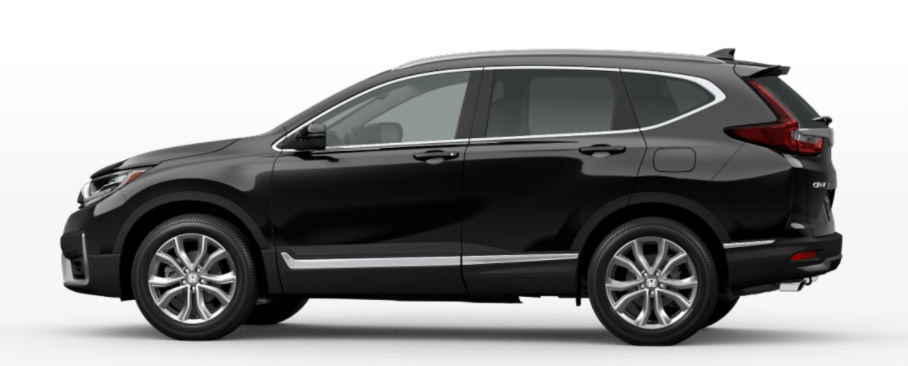 A photo of the 2021 Honda CR-V in Crystal Black Pearl.