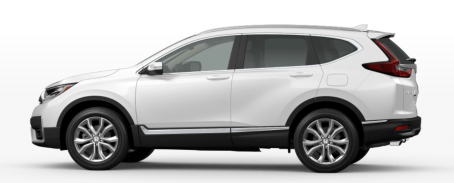 A photo of the 2021 Honda CR-V in Platinum White Pearl.