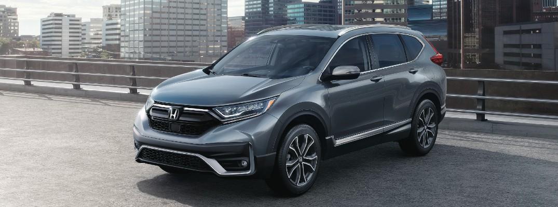A front left quarter photo of the 2021 Honda CR-V.