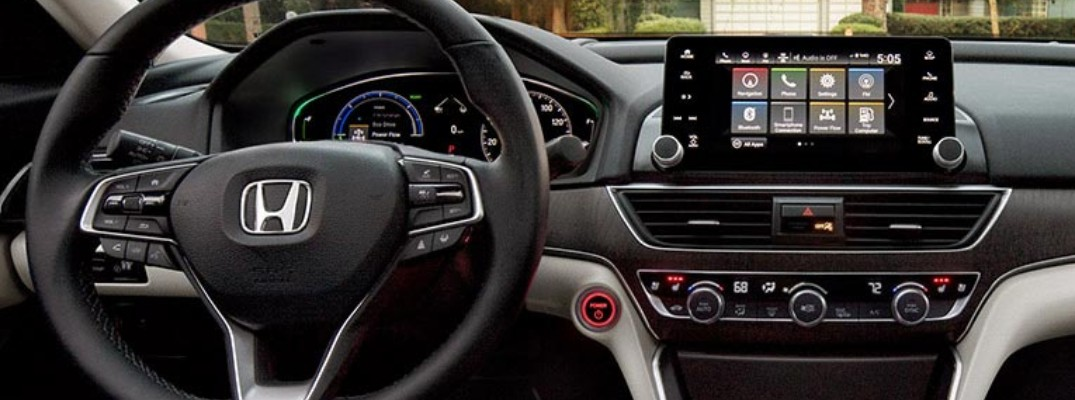 A photo of the digital displays in the 2021 Honda Accord.