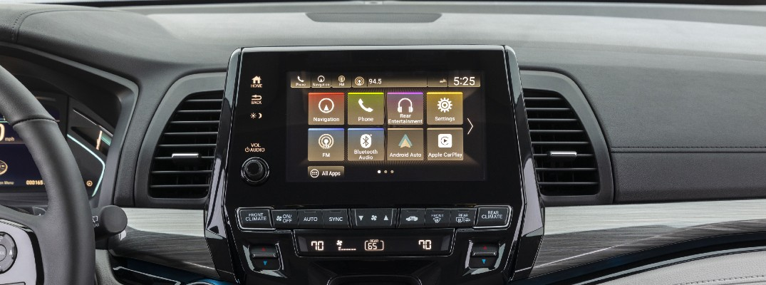 A photo of the touchscreen in the 2021 Honda Odyssey.