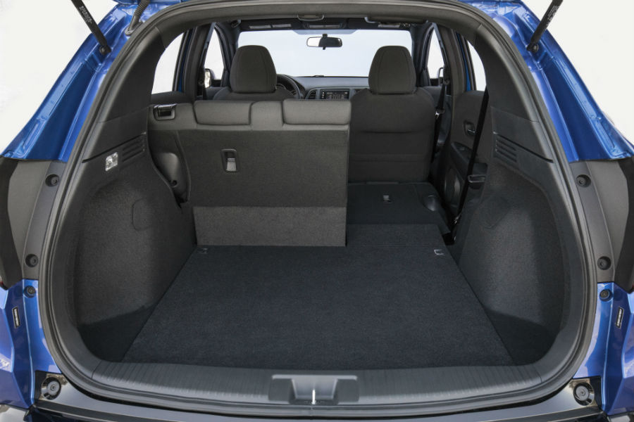 A photo of the cargo area in the back of the 2021 Honda HR-V.