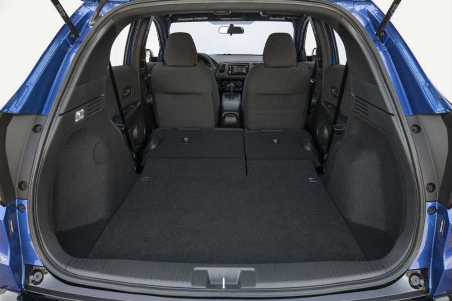 A photo of the max cargo area in the back of the 2021 Honda HR-V.