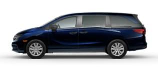 The 2022 Honda Odyssey facing left.