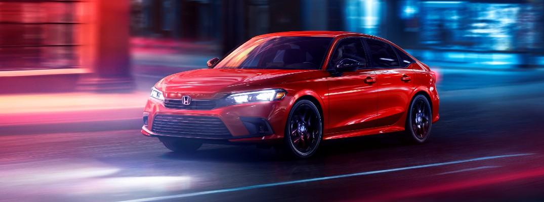 The 2022 Honda Civic on the street.