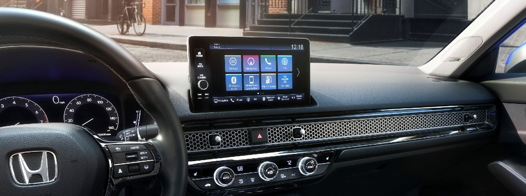 A photo of the infotainment system in the 2022 Honda Civic.