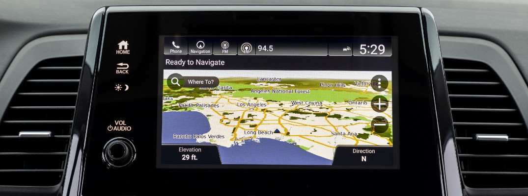 A photo of the Display Audio touchscreen in the 2022 Honda Odyssey.