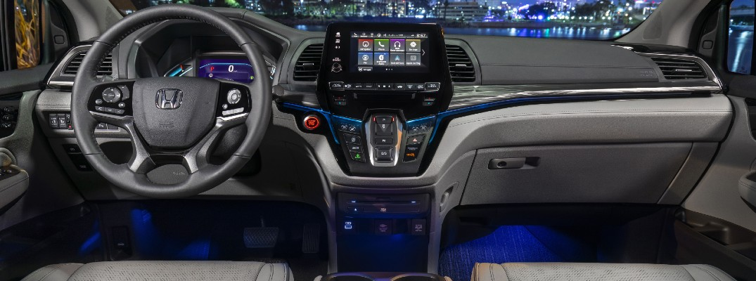 The dashboard of the 2022 Honda Odyssey.