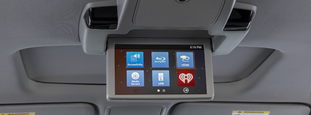 The rear seat entertainment system in the 2022 Honda Odyssey.