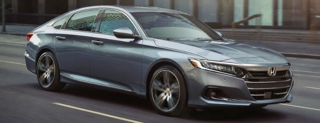 The 2022 Honda Accord Hybrid on road