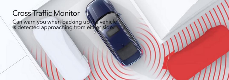Screenshot of video explaining Honda Cross Traffic Monitor