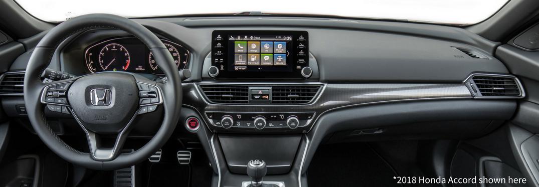 Front interior of 2018 Honda Accord Touring