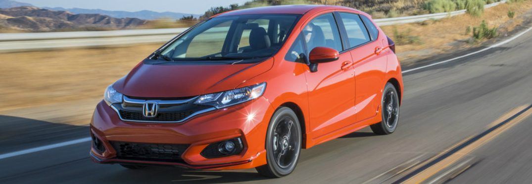2019 Honda Fit in red