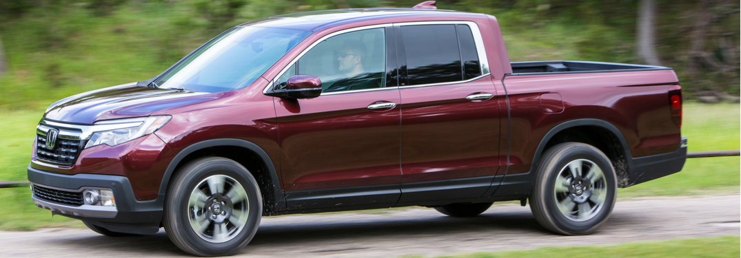2019 Honda Ridgeline in red