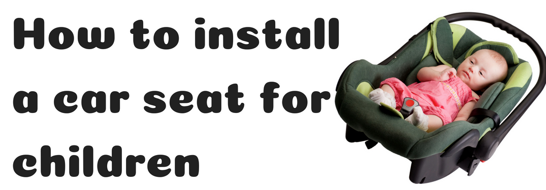 HOw to install a car seat for children next to a baby in a car seat