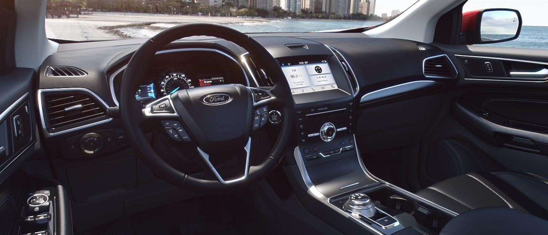 Ebony  Ford Edge Front Seat Interior
