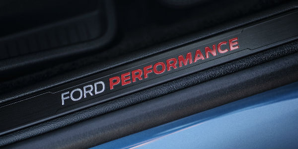 Close Up Of  Ford Edge St Ford Performance Badge