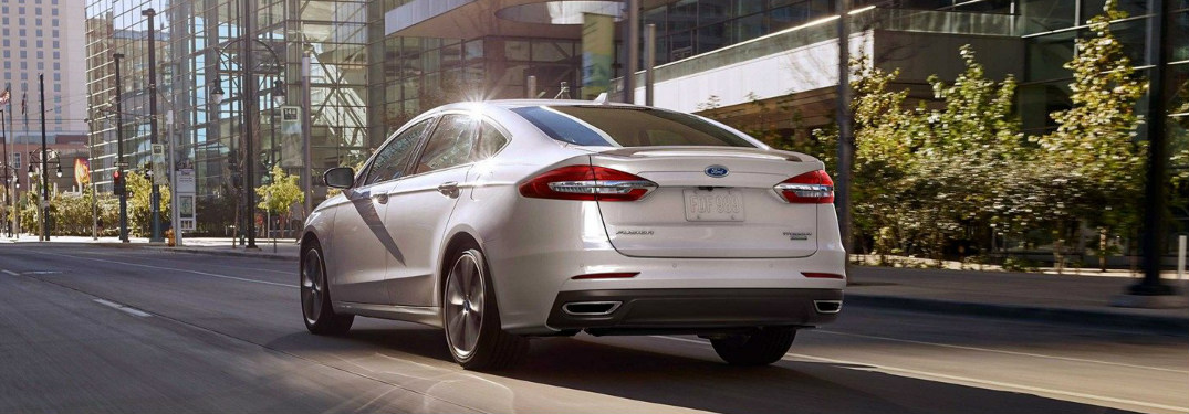 2019 Ford Fusion driving in the city