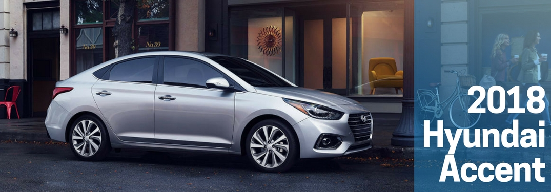 silver 2018 hyundai accent side view