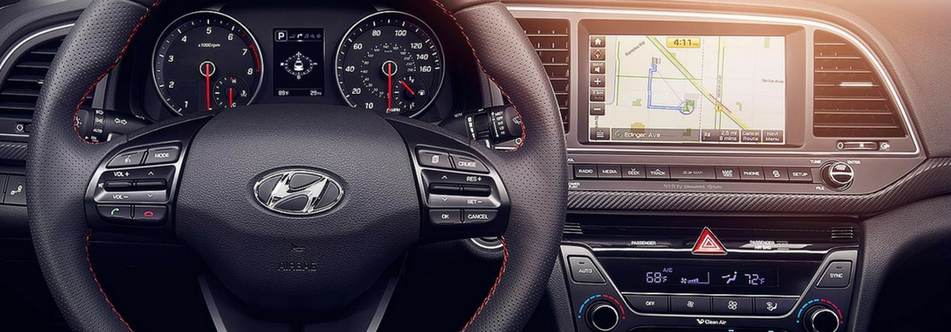 hyundai blue link naviagtion infotainment system in dashboard