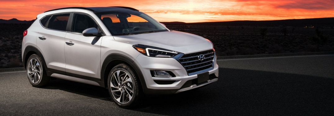 2019 hyundai tucson at sunset