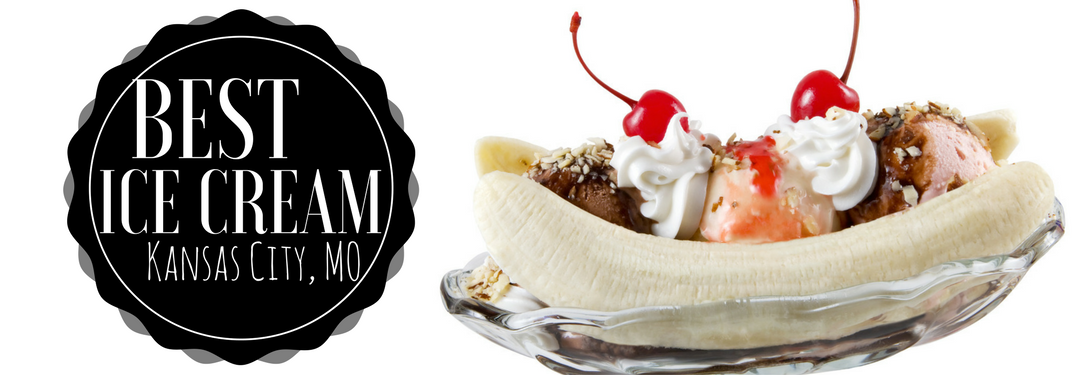 Sundae with ice cream and the banana