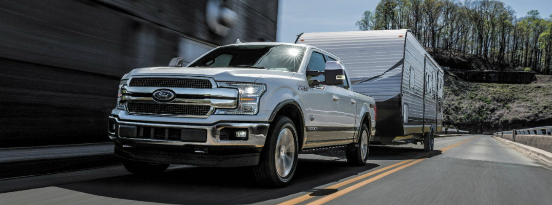 2018 Ford F-150 Diesel towing a fifth wheel trailer