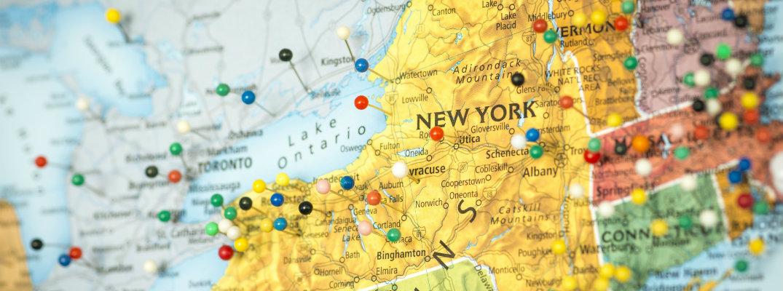 Un mapa del estado de Nueva York