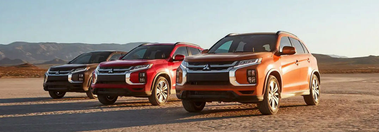 alineacin de tres modelos 2020 Mitsubishi Outlander Sport