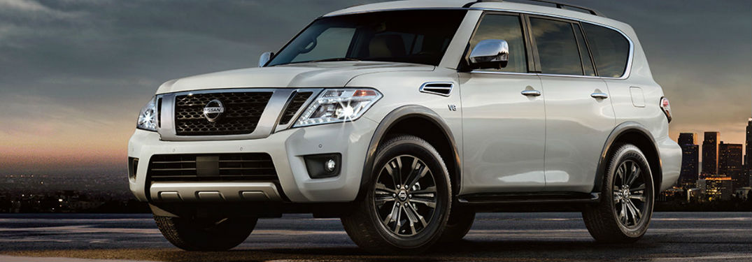 Nissan Armada parked showing side profile