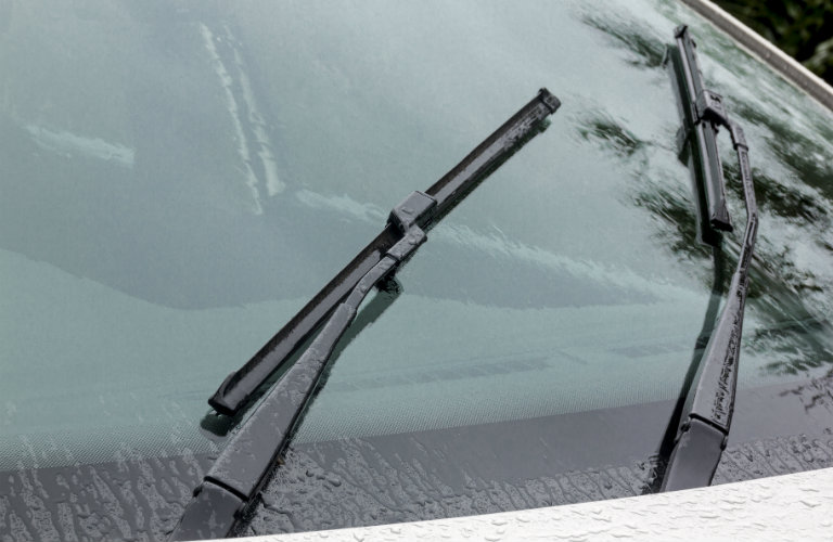 wipers on a windshield