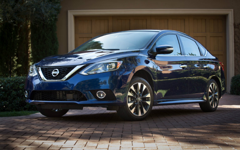 nissan sentra parked in driveway