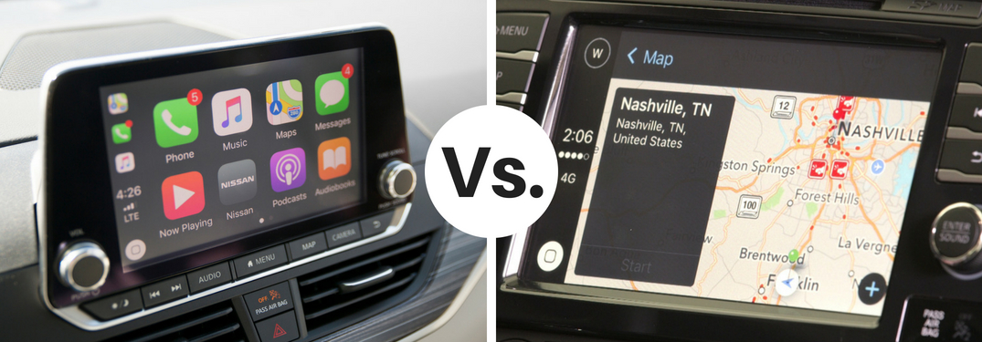apple car play monitor vs android auto monitor